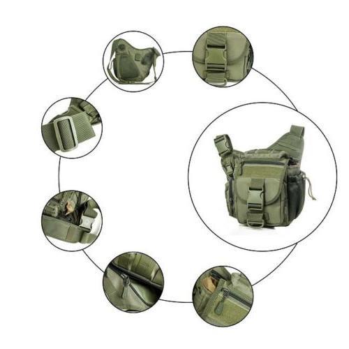 Men's Military Shoulder Bag Day Pack Backpack