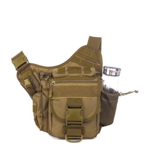 Men's Shoulder SLR Bag Hiking Camping Backpack Pack US