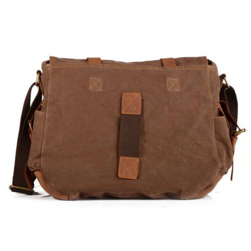Men's Vintage Messenger Shoulder Bag SLR DSLR Digital Camera