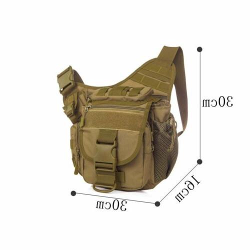 Mens Tactical Messenger Shoulder SLR Hiking Backpack