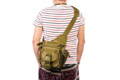 Mens Tactical Military Shoulder Hiking Backpack Brown