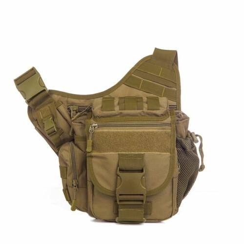 Mens Military Messenger Shoulder SLR Bag Hiking