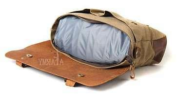 Mens Womens Canvas Leather DSLR Canon Nikon Sony Pentax Camera Case