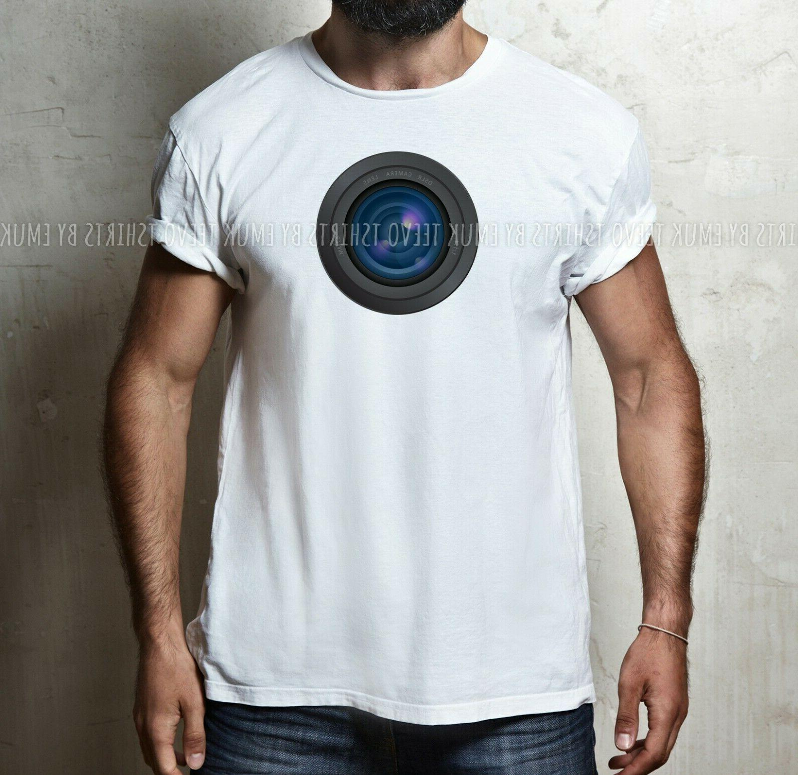 Mens Camera Lens 100% S-5XL T-shirt TEE