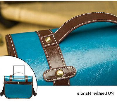 Medium Vintage PU Leather Nikon Bag