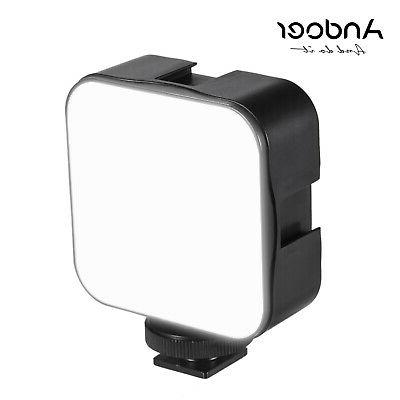 Andoer Mini LED Video Light Fill Lamp 6500K Dimmable for Can