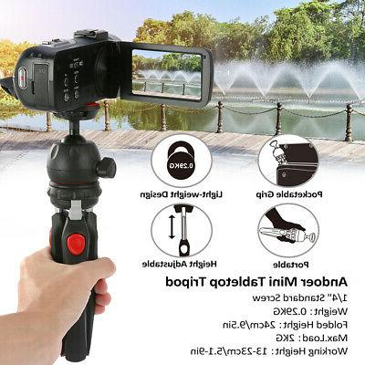 Andoer Mini Tabletop Tripod With Ball Head Portable For Trav