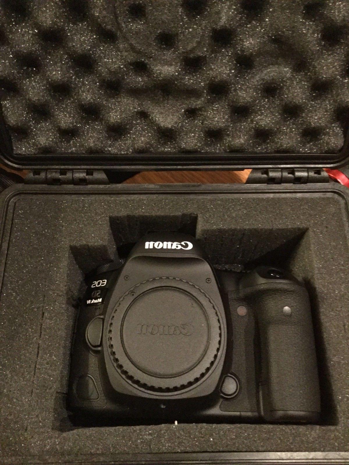 NEW Canon EOS Mark IV 30.4 MP Digital SLR Camera W/3Lens W/MATTE FOLLOWFS