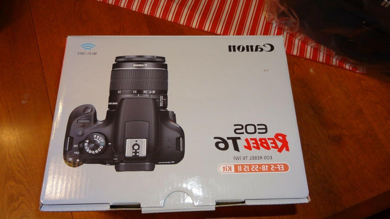 New Canon EOS Rebel Camera w/18-55mm Lens Bag