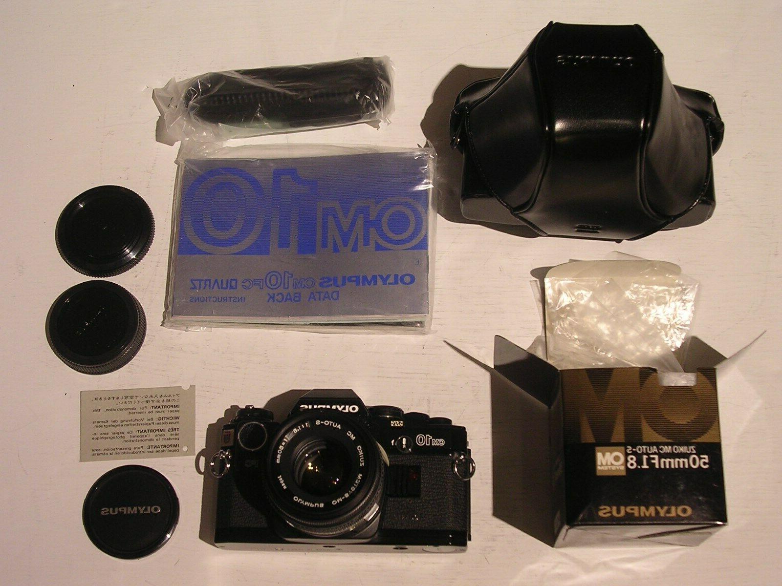 NEW OLYMPUS OM-10 Quartz DBack 35mm SLR Camera NEW OM 50mm 1