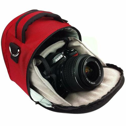 nylon dslr camera case sholder bag