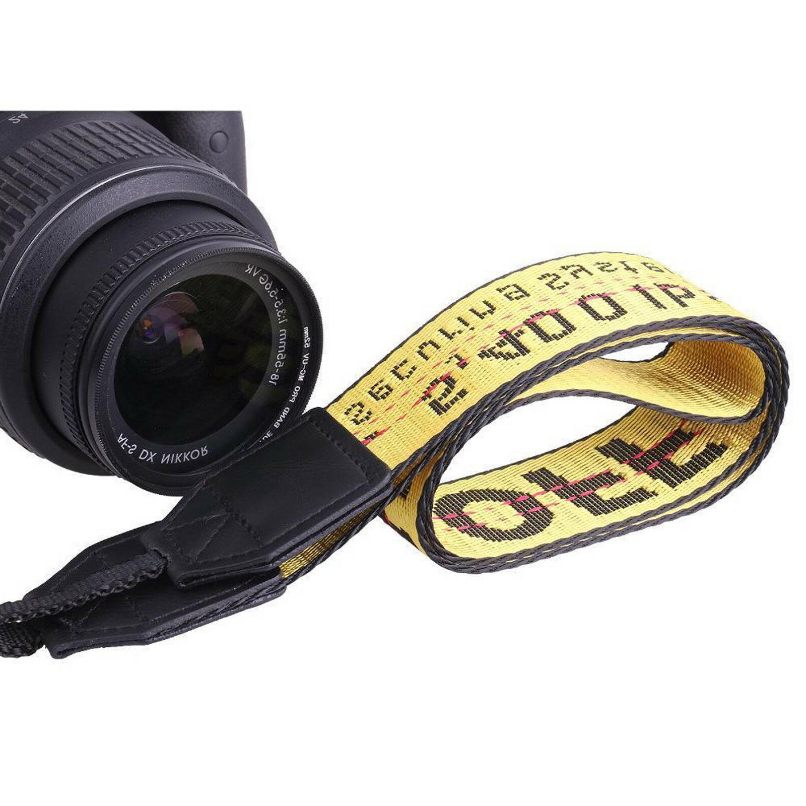 OFF WHITE Industrial Strap Yellow Fit any DSLR Camera