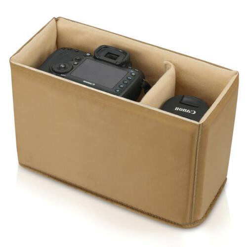 padded dslr slr camera lens bag inner