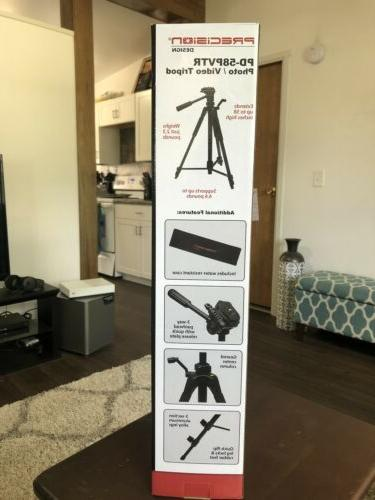 Precision Design Photo/Video Tripod - Includes