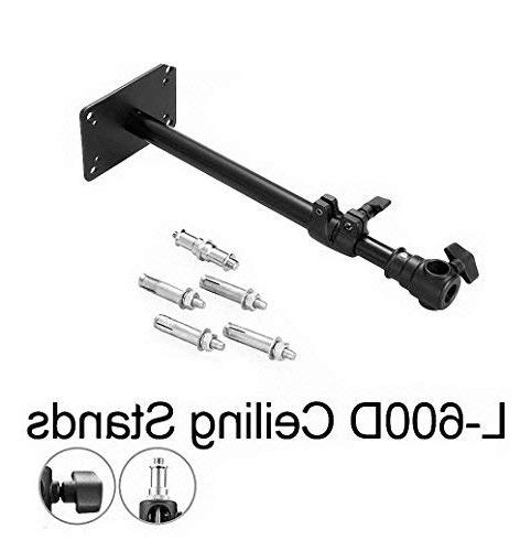 """Meking Wall Mount, Camera Mount Boom Up to 22"""" for Video Monolights, Overhead with Thread"""