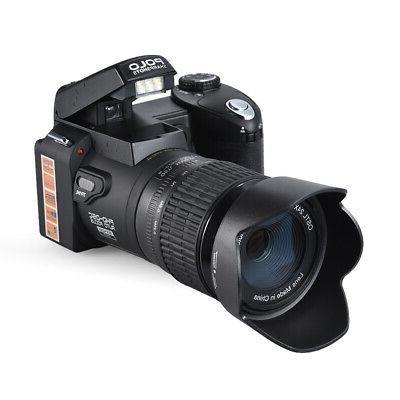 """POLO 33MP AF 3"""" ZOOM Digital DSLR Photo Video Camcorder"""
