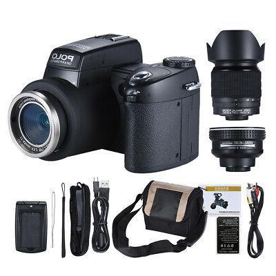 "POLO 33MP 3"" Digital DSLR Camera Video"
