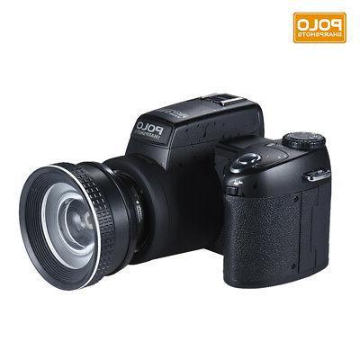 """POLO HD AF 3"""" LCD Digital DSLR Camera Video Camcorder"""