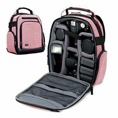 portable camera backpack for dslr slr red