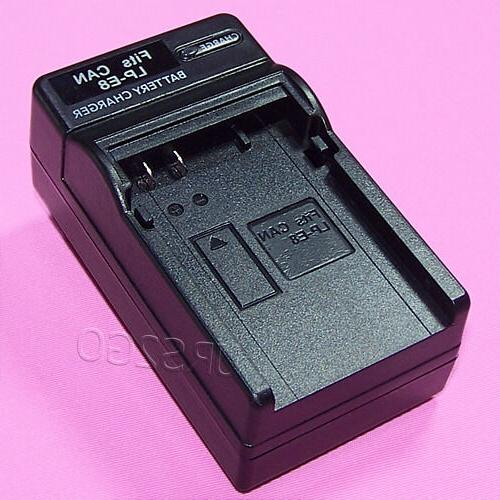 Portable Special Wall Quick AC LP-E8 Battery Charger f Canon