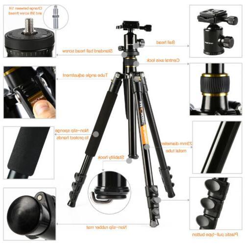 "Professional 62"" Portable Ball Head Nikon Digital DSLR"