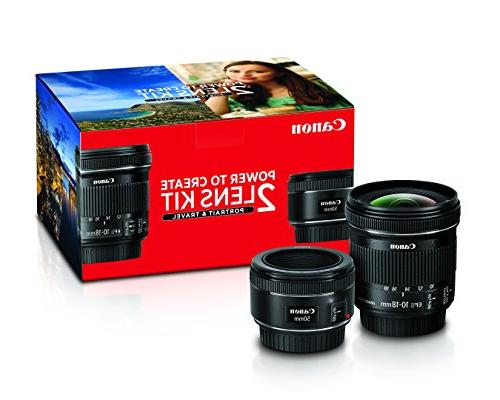Canon Portrait  Travel 2 Lens Kit w/EF 50mm f/1.8 STM  EF-S