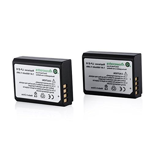 Powerextra 2 Pack Replacement Canon LP-E10 Battery Compatibl