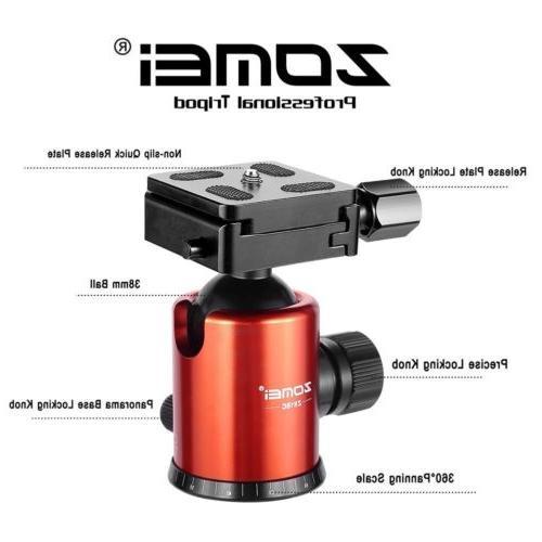 Professional Carbon Z818C Travel Head for DSLR Camera