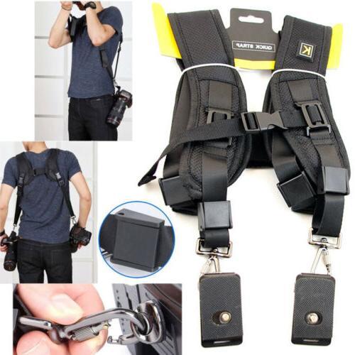 professional double dual shoulder belt harness holder