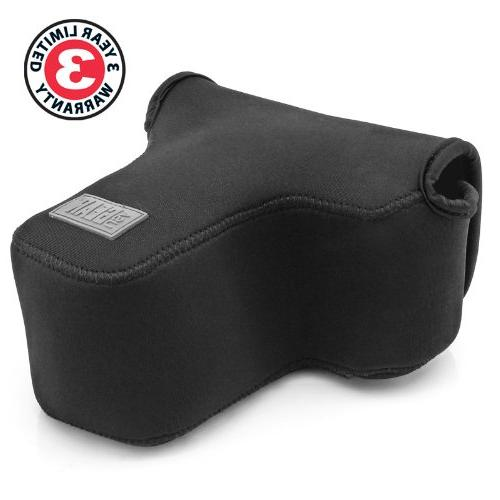 USA Gear Camera Holster Scratch Resistant Neoprene Accesory Works Canon T6, T6s