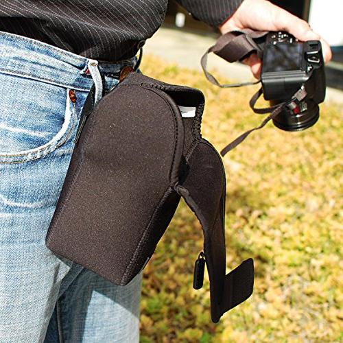 USA Camera Holster Scratch Resistant Protective Neoprene Fabric Accesory Pocket Works Rebel T6, T6i T6s
