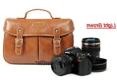 PU Women DSLR Shoulder Messenger Bag Nikon