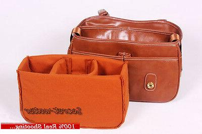 PU Leather Men Women DSLR Bag Messenger Bag Nikon