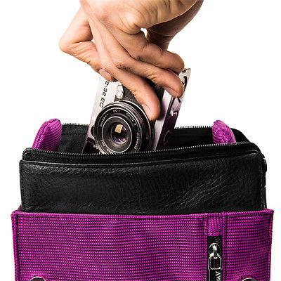 Purple VanGoddy Compact Shoulder Camera For GoPro