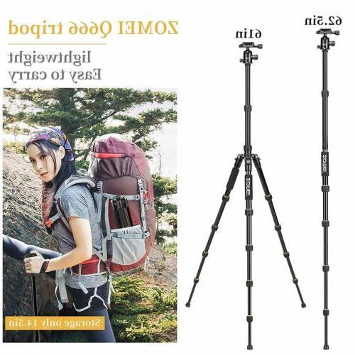 ZOMEI Tripod Travel Monopod w/ Ball For DSLR Camera Camcorder Q666