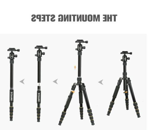 ZOMEI Aluminum Tripod Monopod Travel Camera