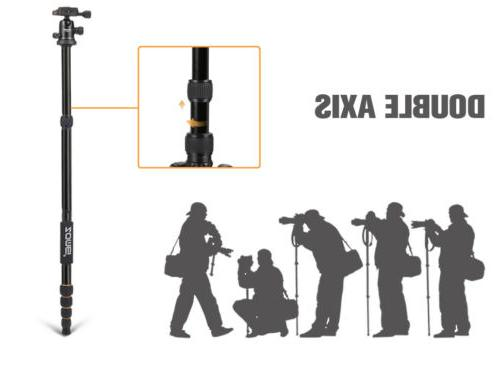 ZOMEI Portable Aluminum Tripod Travel Head Camera