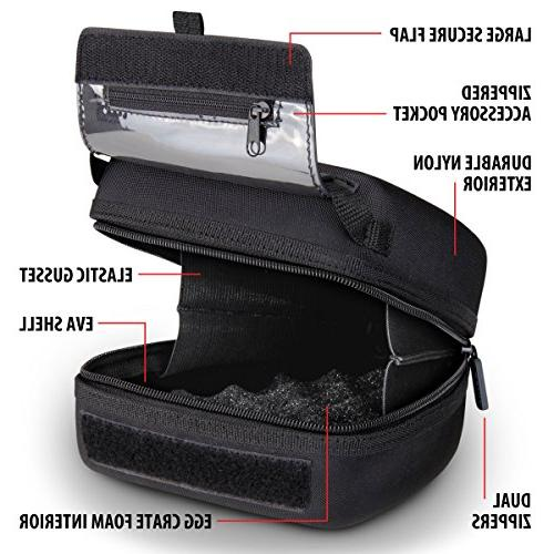 Quick DSLR Hard Shell Case Molded Interior, Holster Belt Loop and by USA Gear Works SL2-Pentax