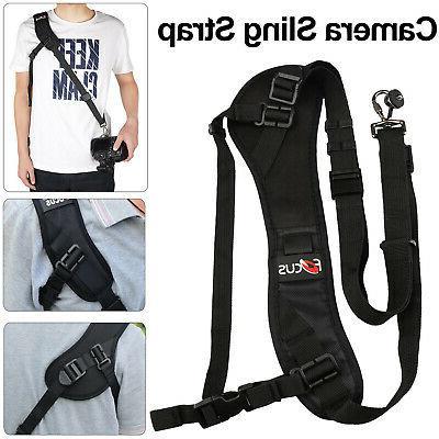 quick black camera neck strap shoulder belt