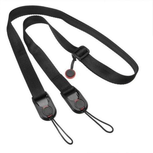 Quick Release DSLR Camera Cuff Wrist Belt Leash Shoulder Str