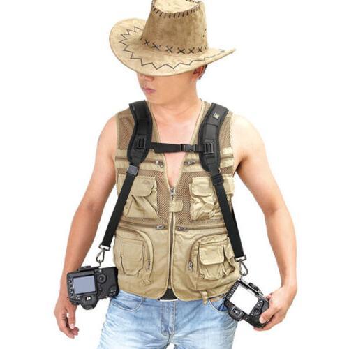 Rapid Camera Dual-shoulder Neck Strap Belt Nikon Canon DSLR SLR