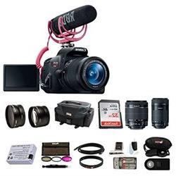 Canon Rebel T5i Video Creator Kit with 18 55mm Lens Rode VID