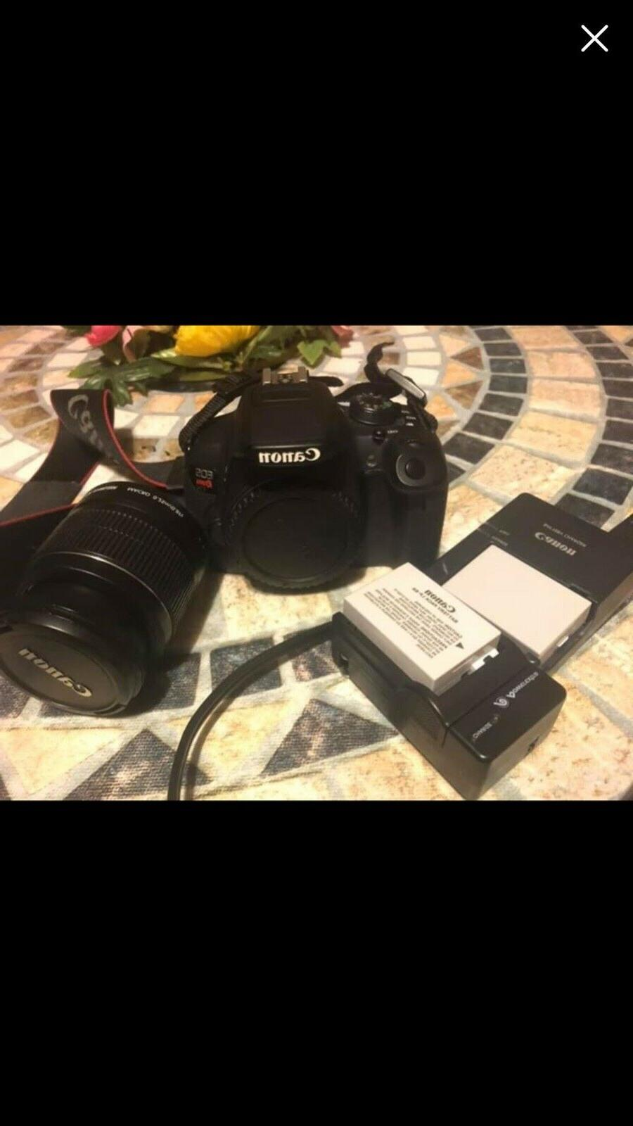 Canon Camera With Lens, Booklet