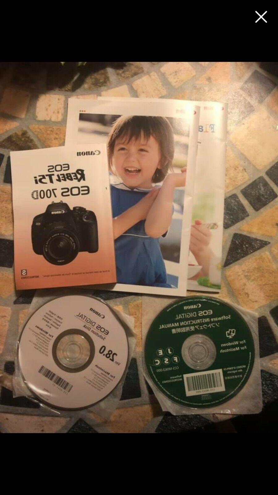 Canon Rebel T5i Camera With Booklet