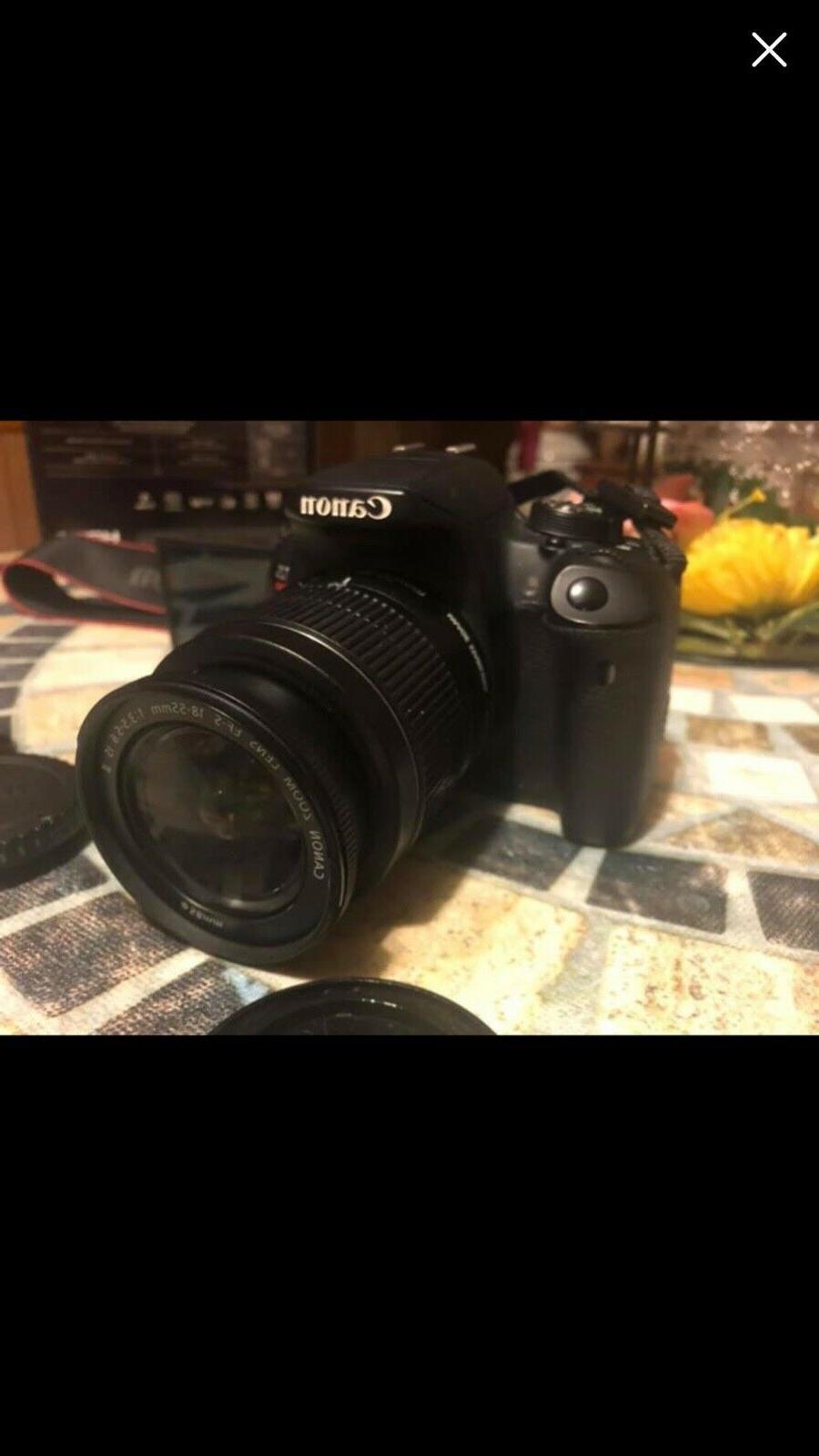 rebel t5i dslr camera with lens box