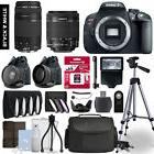 Canon Rebel T5i SLR Camera 4 Lens Kit 18-55 + 75-300mm + 64
