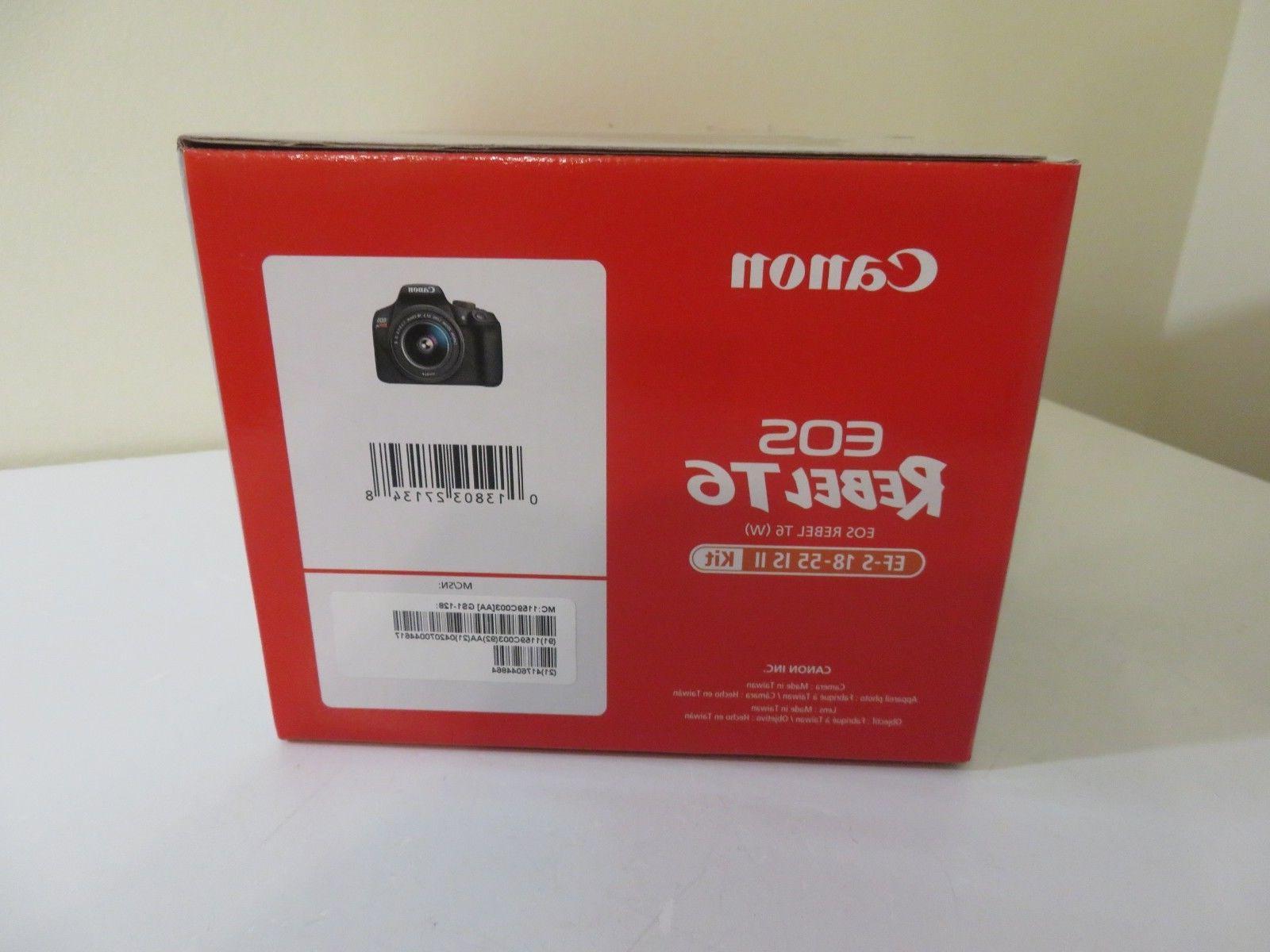 Canon Rebel DSLR Wi-Fi Camera 18-55 Lenses & Card NEW