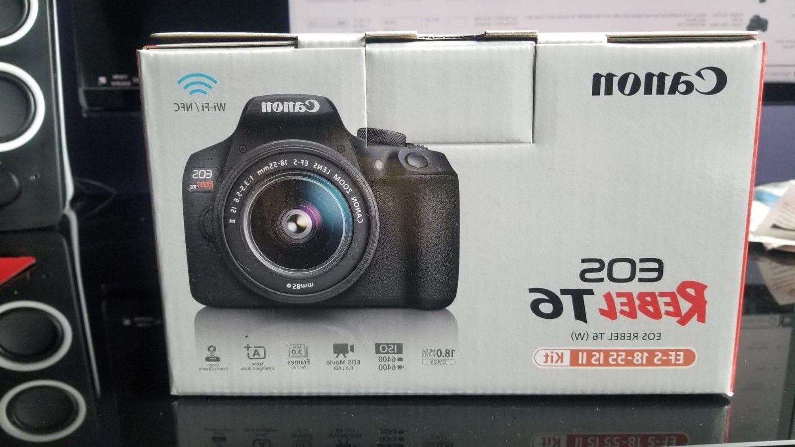 rebel t6 dslr camera kit 18mp w