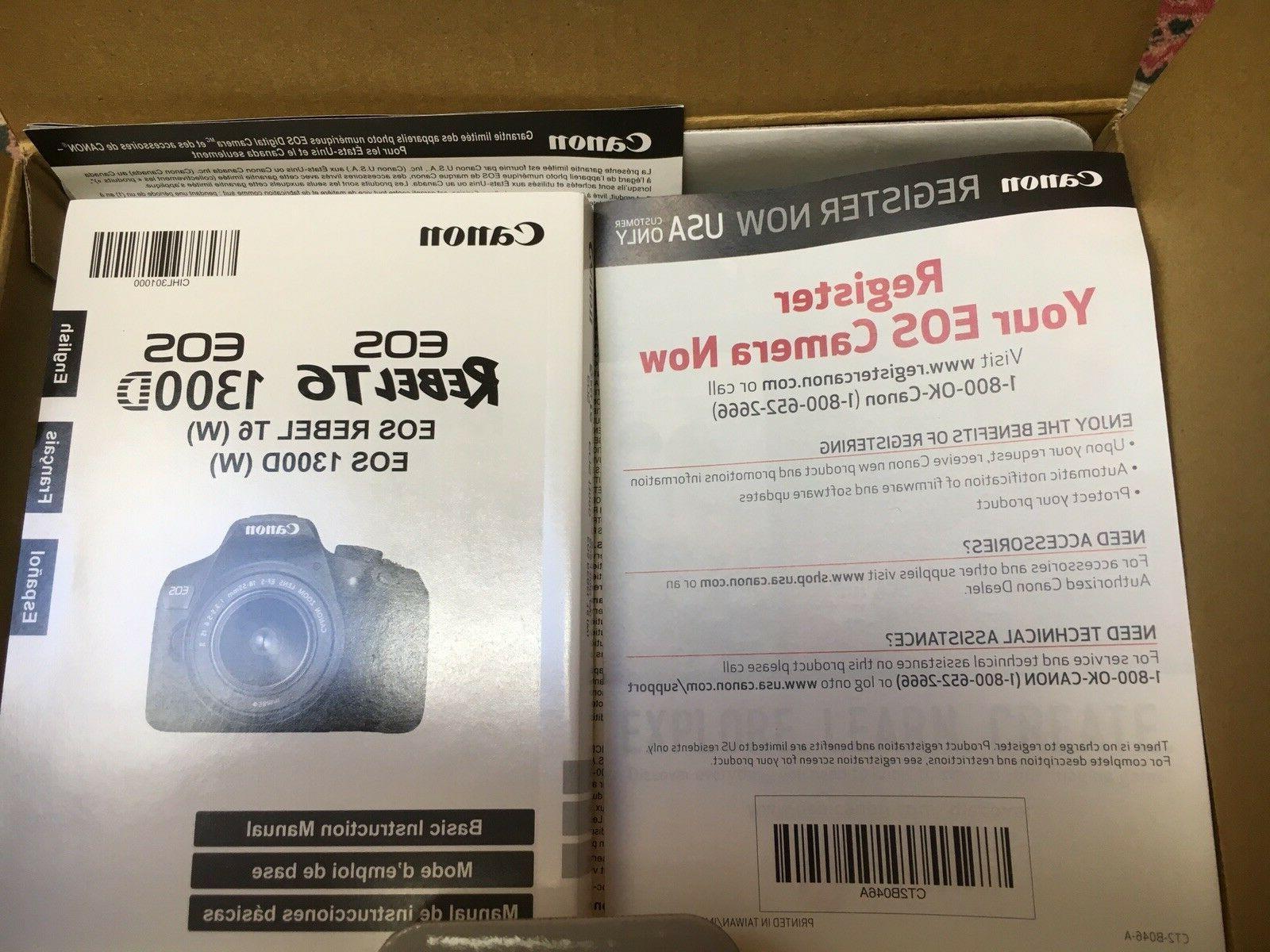 Canon T6 SLR Camera Open Store
