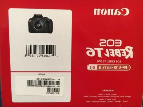 Canon Rebel T6 Camera Kit Open Store Return MINT!